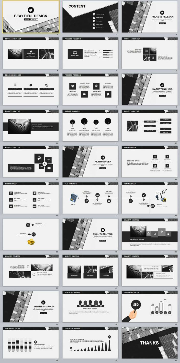 30+ Black Annual Report PowerPoint Templates