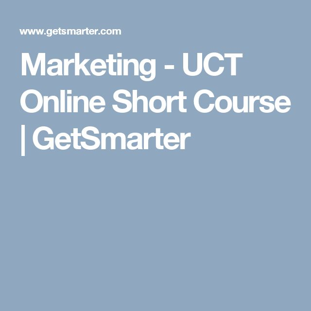 Marketing - UCT Online Short Course | GetSmarter