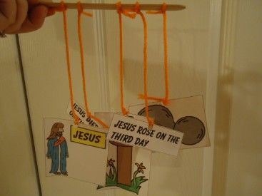 Jesus Rose From The Dead Mobile Craft for Easter For Sunday school kids