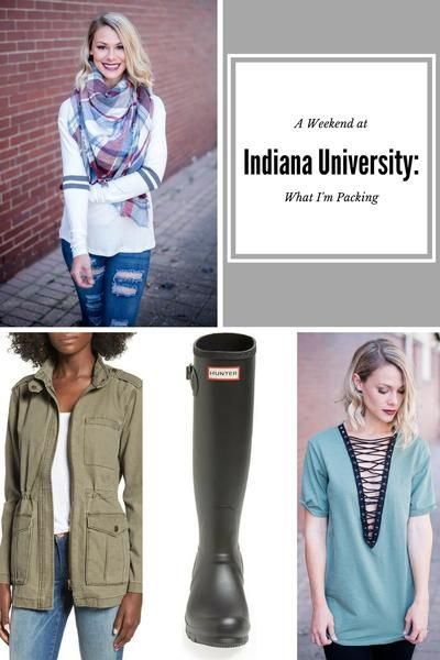 Traveling to My (Almost) Almer Mater | STB Blog - Single Thread Boutique #Indiana #University #ivory #double #stripe #long #sleeve #top #anorak #jacket #vintage #college #tee #tank #hunter #boots #green #lace #up #deep #v #top #destroyed #black #skinnies #heels #fashion #blog #blogger #womens #trendy #fall #fashion #singlethreadbtq #shopstb #boutique