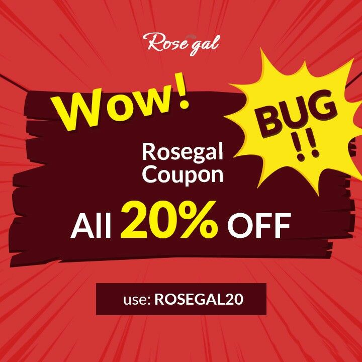 Wow! Rosegal coupon bug All 20% off use: rosegal20 click ...