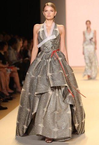 Carolina Herrera; hanbok inspired collection