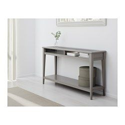 IKEA - LIATORP, Sofa table, gray/glass, , Can be placed behind a sofa, along a wall, or be used as a room divider.