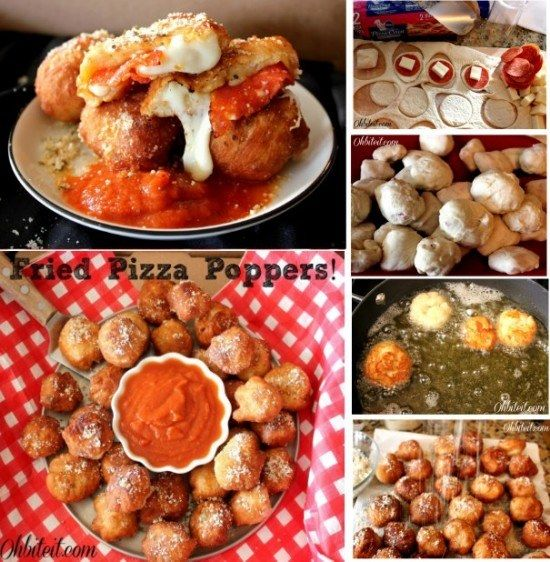 Fried pizza poppers