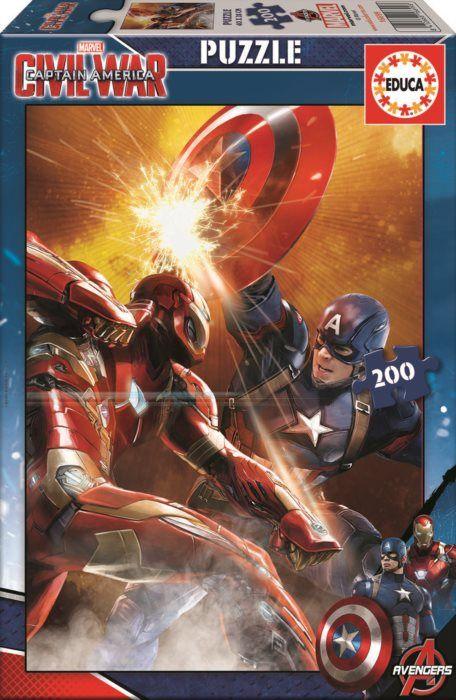 Dětské puzzle EDUCA Captain America: Občanská válka 200 dílků