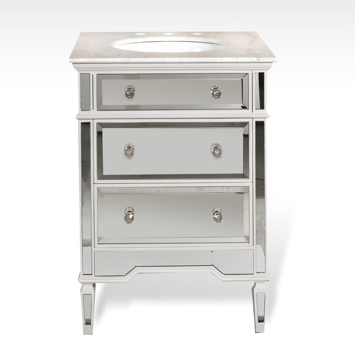 24 Mirrored Bathroom Vanity mirrored bathroom vanity 24 inch ba847524 | powder bath