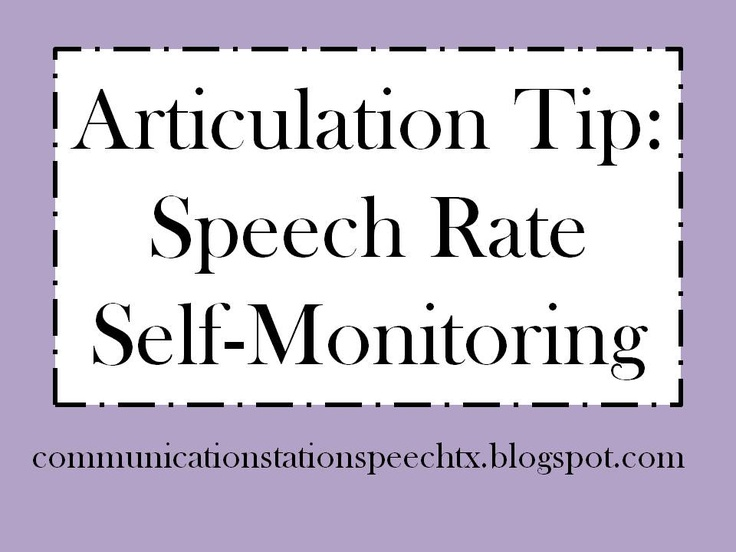 Speech Therapy:  Teaching Students to Self-Monitor Speech Rate!