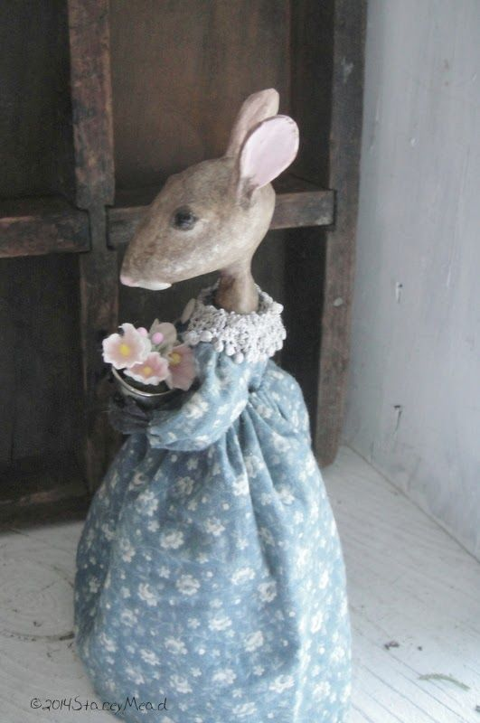 The Goode Wife of Washington County: As Winter Gives Way To Spring ©2014 Stacey Mead Wee Miss Bell Paper Clay Mouse
