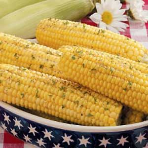 on the Cob Recipe: • 6 medium ears sweet corn • 1/2 cup butter ...