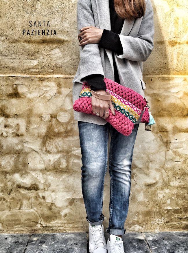 Clutch de algodón y pasamanería | Santa Pazienzia