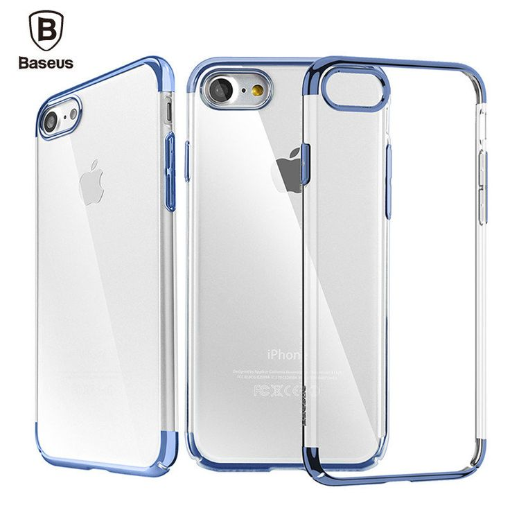 Baseus Transparent Plating Hard PC Case For iPhone 7…