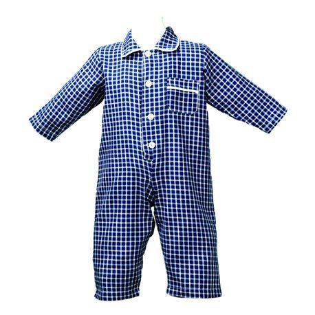 Pigiama tutone per neonato con colletto bordato, chiusura bottoni e taschino