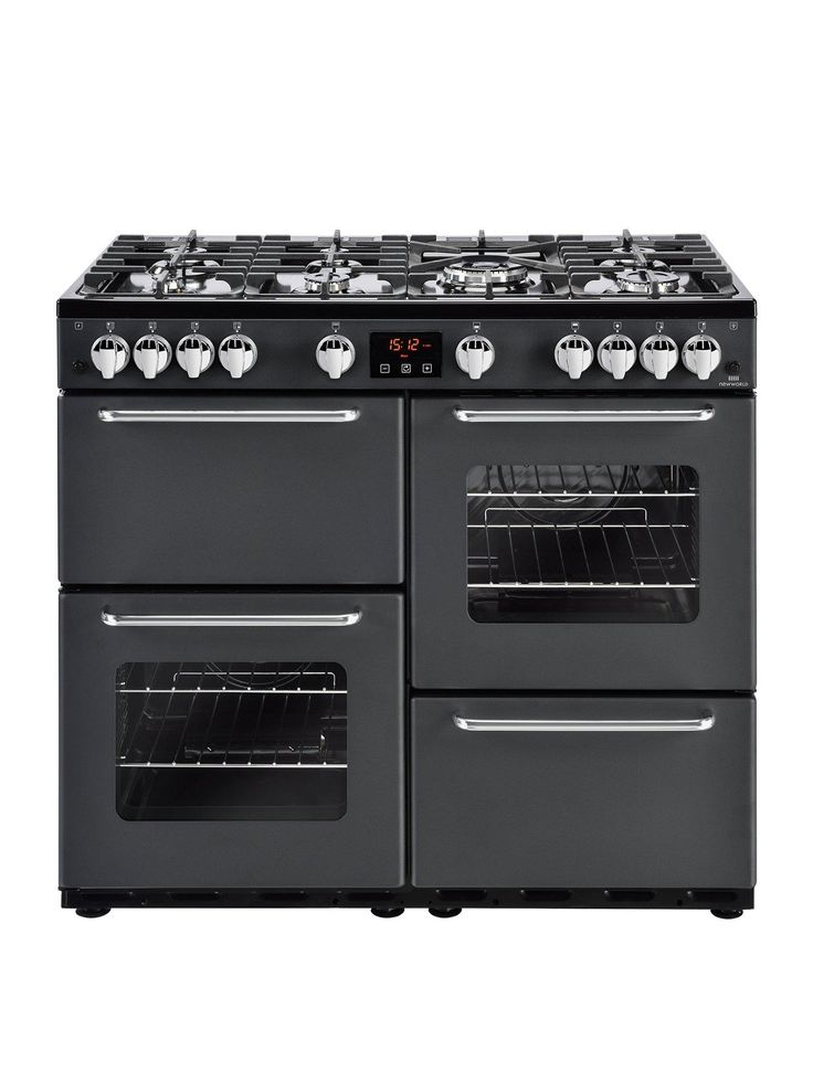 New World New World NW 100G 100cm Gas Range Cooker - Charcoal with connection | littlewoods.com