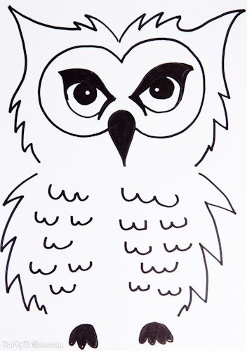 Harry Potter Halloween Owl outline for balloons