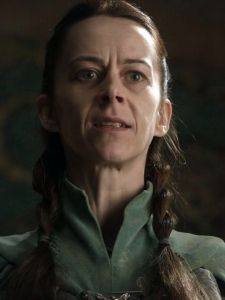 Kate Dickie as Lysa Arryn (nee Tully) - member of House Tully. She is the daughter of Hoster Tully & Minisa Whent. During the War of the Usurper she married Jon Arryn, a man older then her father. During their marriage she had a number of miscarriages & finally gave him one son, Robin Arryn.