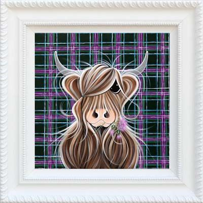 "Highland Girl by Jennifer Hogwood Artwork: 20"" x 20"" Limited Edition: 195 Medium: Giclee on Canvas (Framed only) LoveArt Applies"