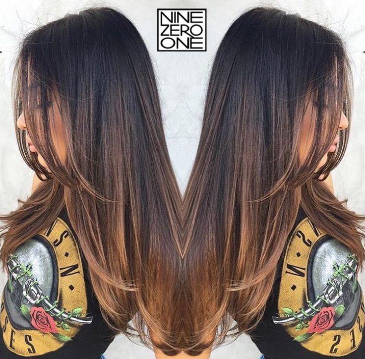 Brunette sombre by #901artist @anthonyholguin! #brownhair #highlights #balayage #brunette