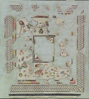 Asarotos oikos stanza non spazzata grande mosaico dal for Grande disposizione della stanza