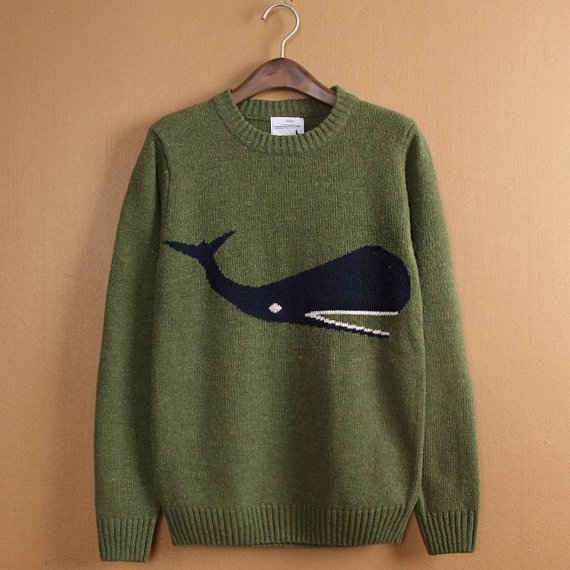 Whale Sweater | 17 Beautifully Ugly Hipster Sweaters You Can Buy On Etsy