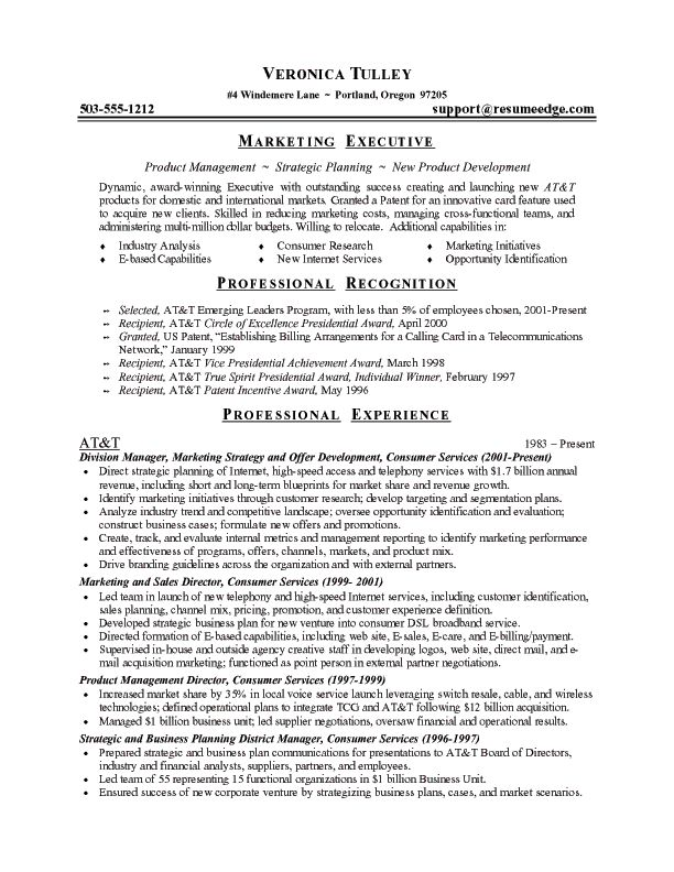 marketing director resume executive sample manager template purchasing