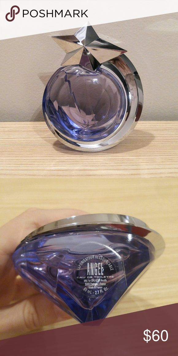 THIERRY MUGLER Angel Eau de Toilette 2.7 oz Angel eau de toilette tester that I won at work. Tried it once but although it's lovely it just doesn't work as well for me as the perfume. It's lighter and fruitier than the original Angel to me. Thierry Mugler Other