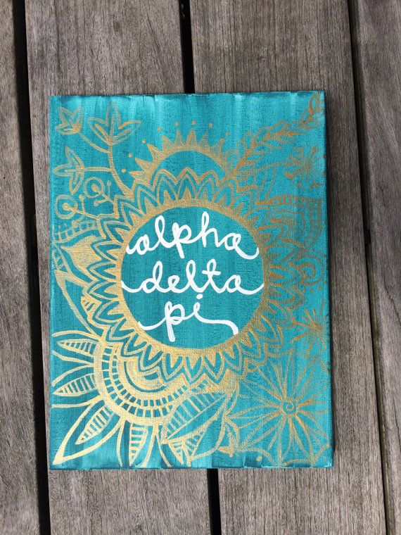 Alpha Delta Pi Canvas by JustSrattyThings on Etsy