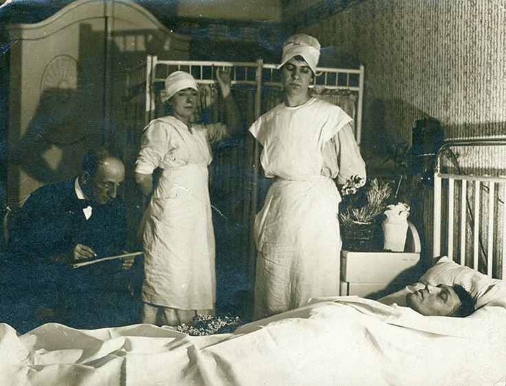 1919. Ady Endre a halálos ágyán.