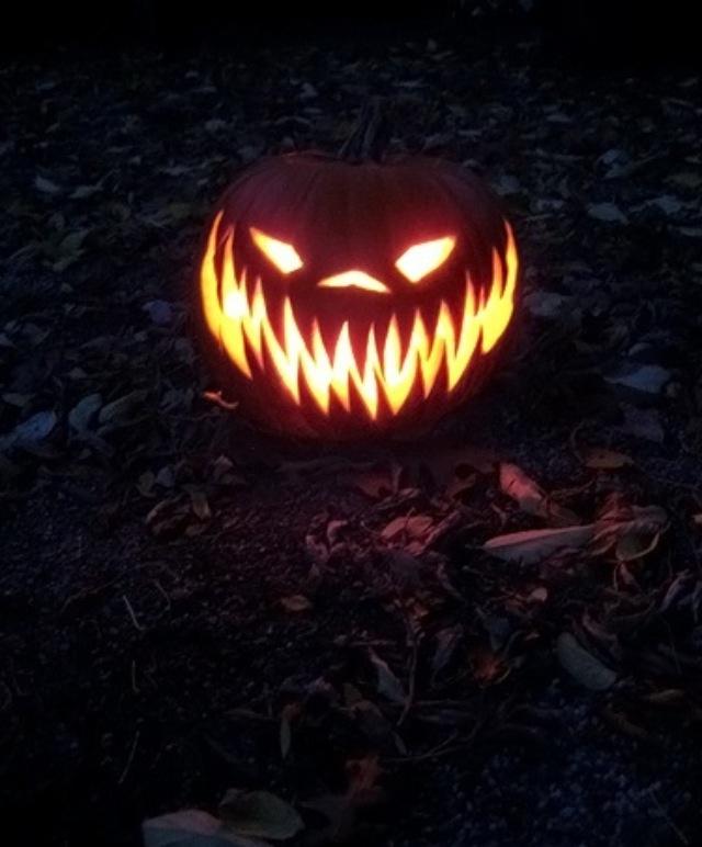 Carve a pumpkin like this :)