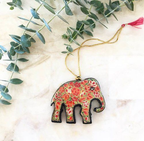 The Haathee Ornament #papiermaché #papiermachéornament #papiermachéchristmas #handmadeornament #kashmiriart #kashmirpapiermaché #papiermachéindian