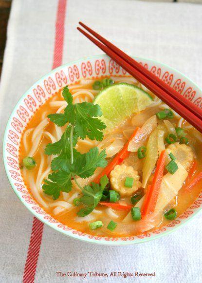 Peanut Curry Noodle Soup