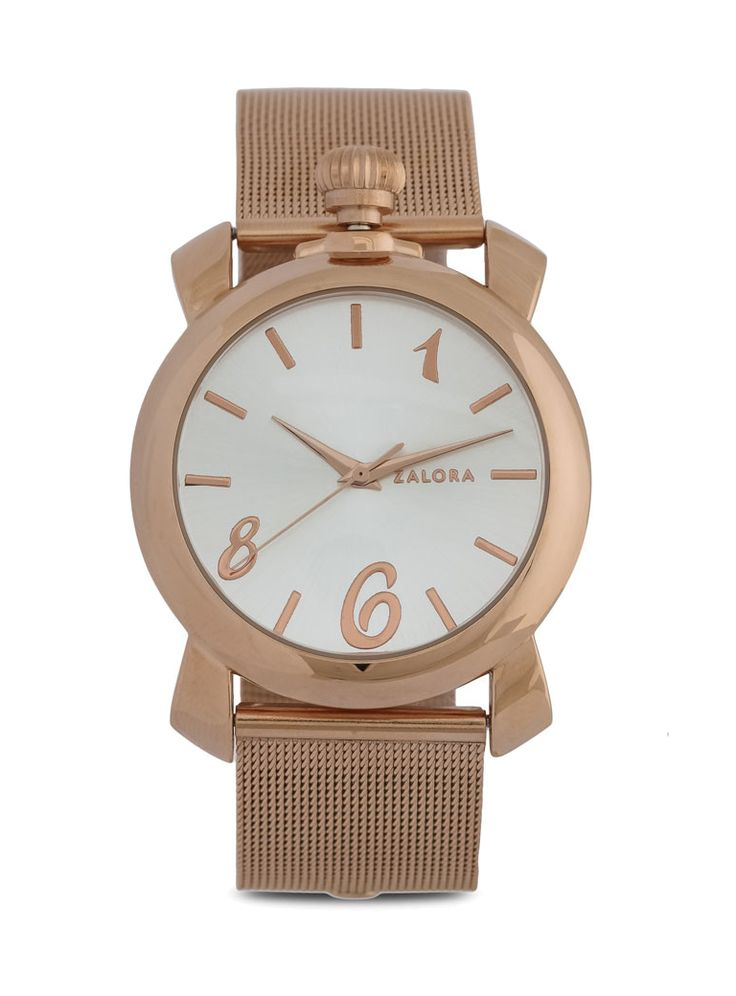 Stainless Steel Mesh Watch by Zalora. Watch with a rose ggold color that made of…