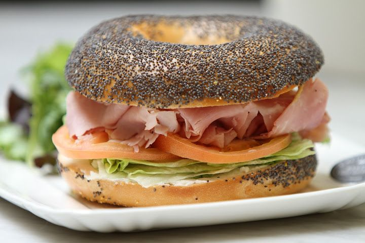 Prosciutto bagel by California Bakery