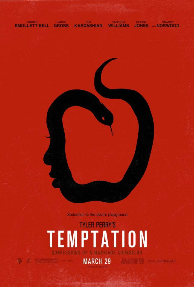 Tyler Perrys Temptation movie poster. The film is scheduled for a summer 2013 release.
