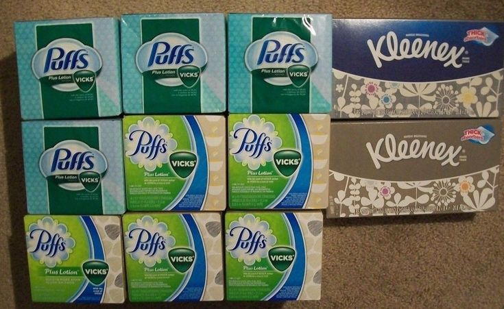 (9) Puffs Plus Lotion w/ Vicks Scent 48 ct (2) Kleenex 85 ct Facial Tissue Boxes #KleenexPuffsVicks