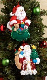 Old World Santa Bucilla Felt Christmas Ornament