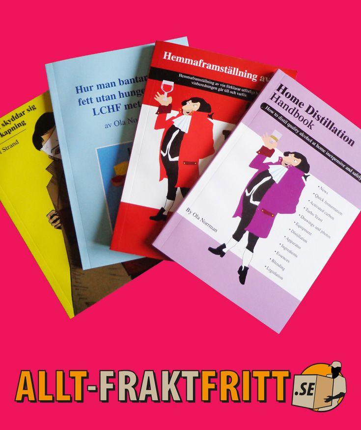 Böcker om allt vrån viktminskning till hembryggning. Bra böcker som ofta är svåra att få tag i.