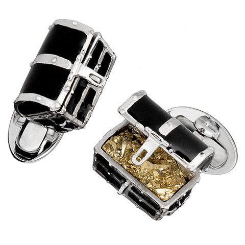 Treasure Chest Cufflinks | Designer Cufflinks | Jan Leslie Cuff Links and Accessories