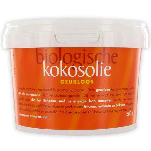 Geurloze biologische kokosolie - 500 ml (Omega & More)  Supergezond en overal goed voor!