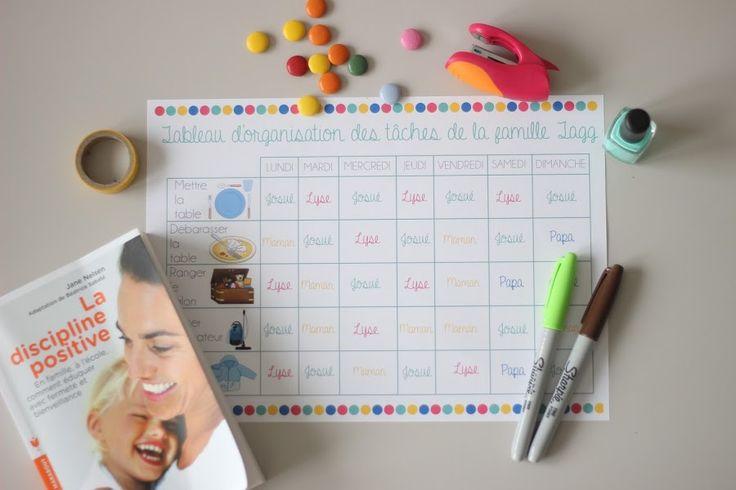 DEUX SOEURS | UN AGENDA: Tableau d'organisation des tâches (Discipline Posi...
