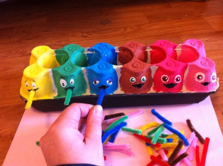 Babblarna fine motor, Color match and speech activity:
