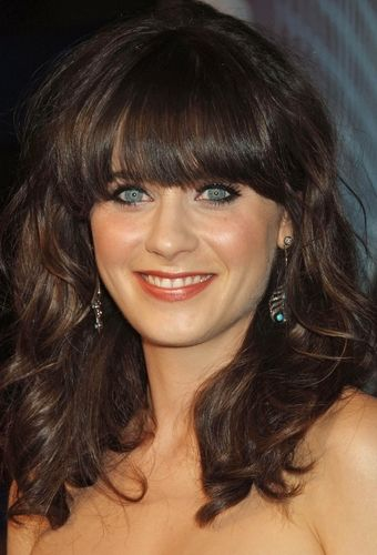 Celeb Bangs Inspiration - Zooey Deschanel Thick Blunt Bangs