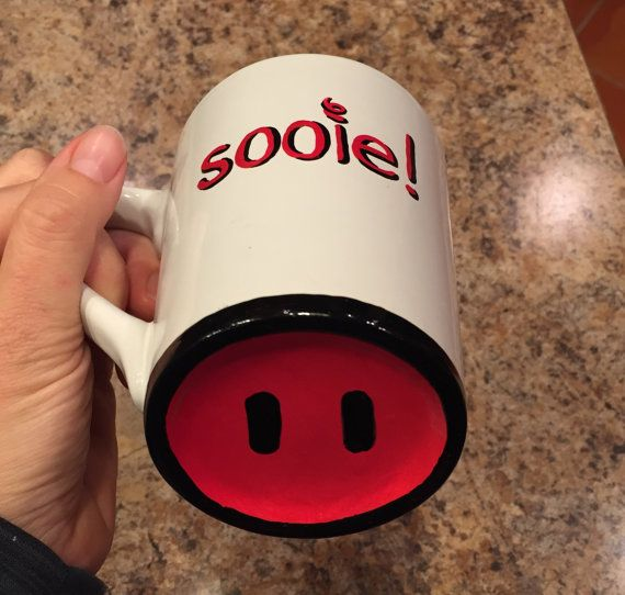 Razorbacks Mug: Sooie  Pig snout on bottom.  by LakesideStudioVA