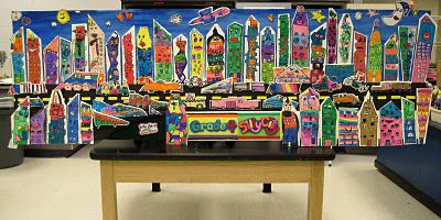 great james rizzi mural: Style Cities, Style Silly, Silly Cities, 4 S Rizzi, Grade 4 S, Rizzi Style, Art Projects, Rizzi Cities, Art Rooms