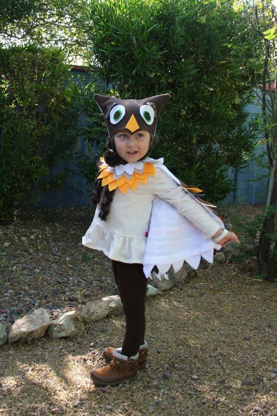 Owl Costume in Autumn Colors Imagination Play Dress by SavageSeeds, $74.00: Halloween Costumes, Dress, Felt Costumes, Autumn Colors, Kids Costumes, Owl Costumes