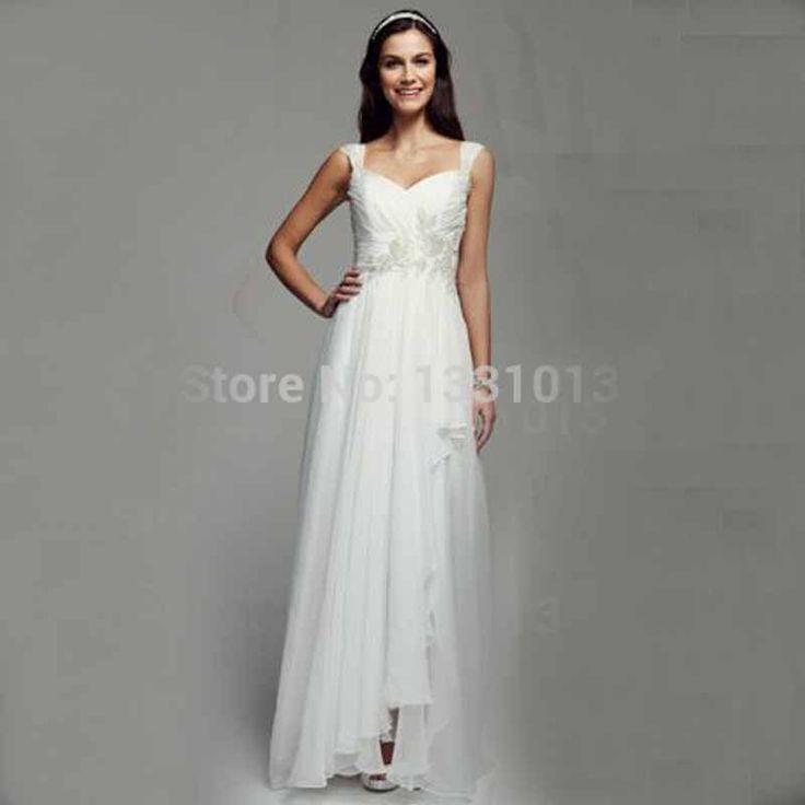2016 Cap рукавом свадебные платья платье-линии шифоновая юбка с складки лиф и бисером украшения RL3675 свадебные платья