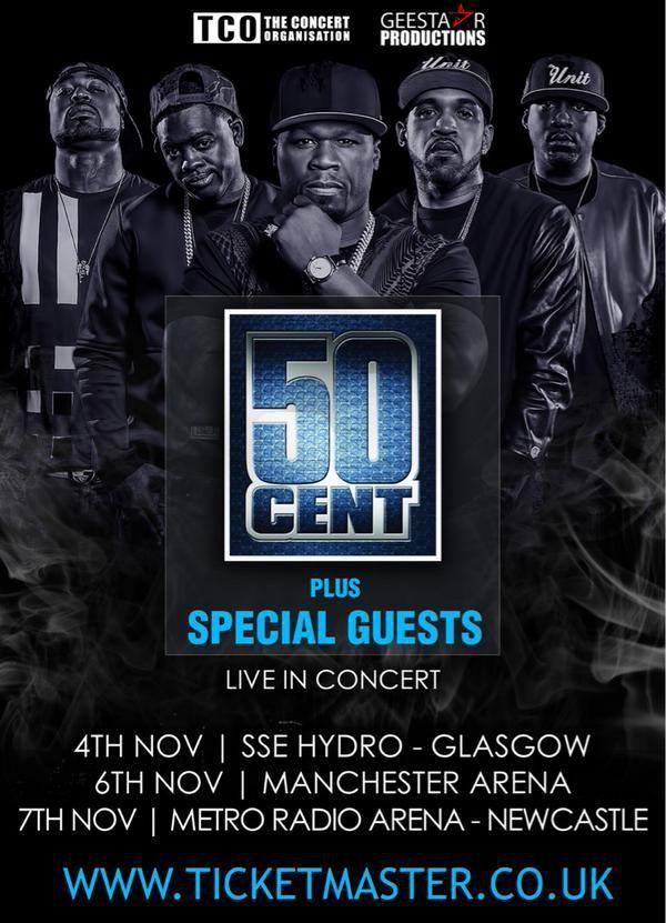 50 Cent UK Tour - November 2015
