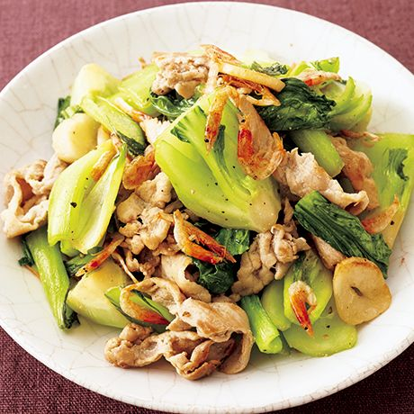 豚肉とチンゲンサイの中華風炒め | 牛尾理恵さんの炒めものの料理レシピ | プロの簡単料理レシピはレタスクラブネット
