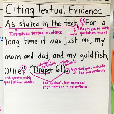 How To Cite A Quote Stunning 27 Best Hs English Textual Evidence And Inference Images On