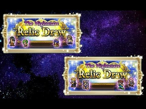 [FFRK] The Nightmare Relic Draw | Summon & Combat Lucky Relic Draw 2x11 #87