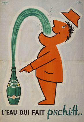Perrier vintage ad poster